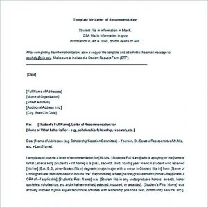 letter of intent for business letter of recommendation template word