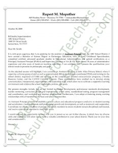 letter of intent for college assistant principal cover letter
