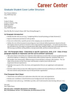 letter of intent for grad school graduate student cover letter structure