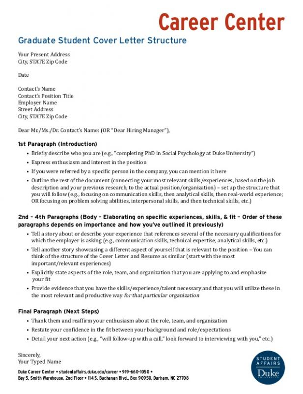 Letter Of Intent For Grad School  Template Business