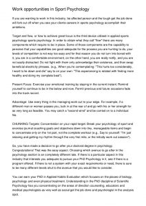 letter of intent for grad school work opportunities in sport psychology