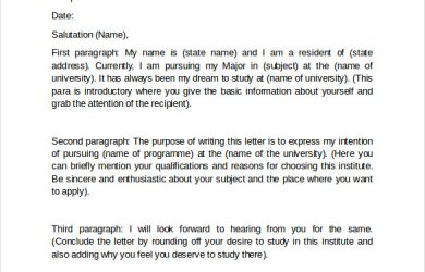 letter of intent for graduate school graduate school letter of intent format
