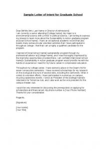 letter of intent grad school sample letter of intent for graduate school