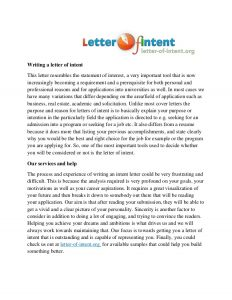 letter of intent residency letter of an intent writing service