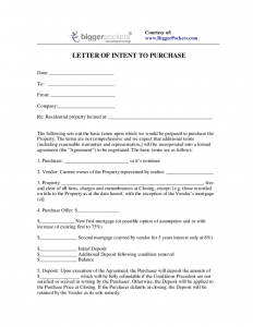 letter of intent to purchase letter of intent to purchase