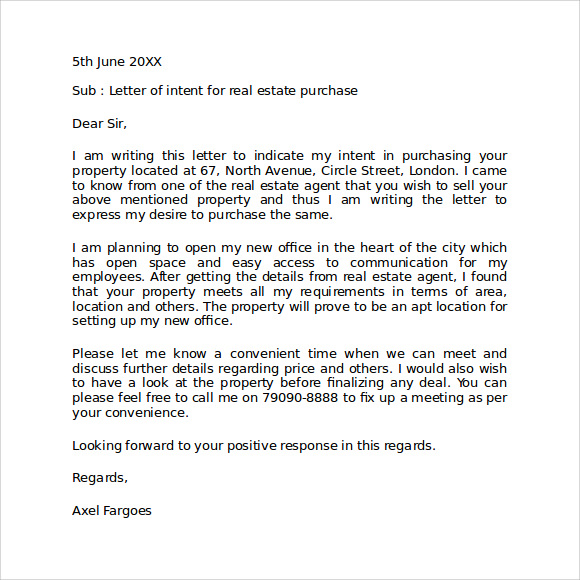 Sample Cover Letter In Selling Property By Owner