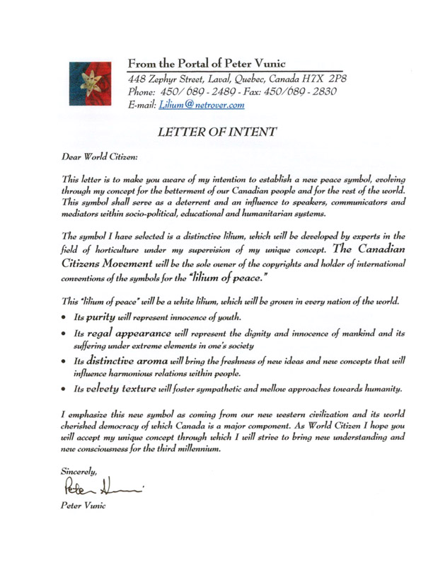 letter of intention