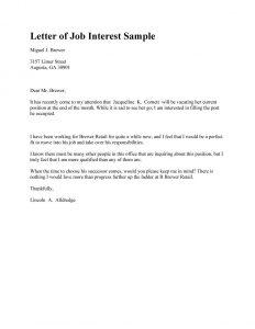 letter of interest sample letter of interest 24