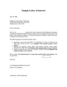 letter of interest sample letter of interest 26