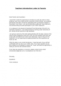 letter of introduction for teachers teachers introduction letter to parents