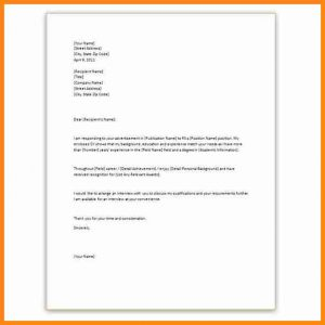 letter of introduction template application letter template word