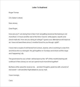 letter of knowing someone for immigration sample sample letter format to boyfriend