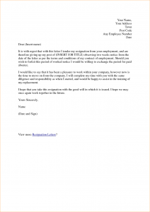 letter of notice weeks resignation letter samples