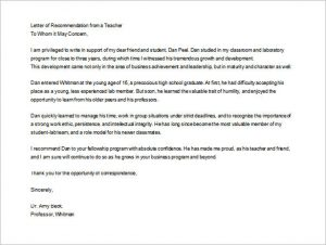 letter of recommendation for a teacher editable letter of recommendation for teacher from student
