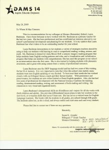 letter of recommendation for a teacher letter of recommendation from elementary school teacher susan k amador