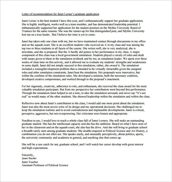 Mba Recommendation Letter Advice