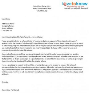 letter of recommendation for scholarship x scholarship personal thumb
