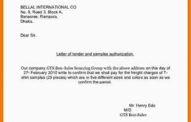letter of recommendation for student scholarship tender application samples examples of a request for tender letter of tender and samples authorization cb