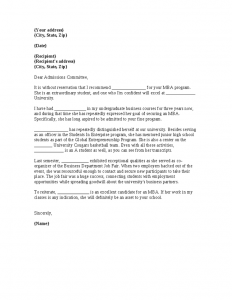 letter of recommendation for student teachers mba recommendation letter