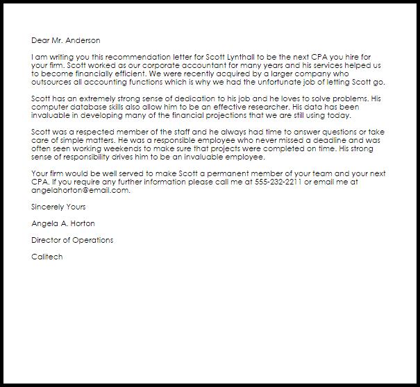letter of recommendation for teacher position