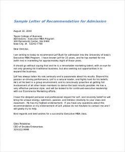 Letter of recommendation format template business recommendation sample 2 letter altavistaventures Images