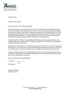 letter of recommendation format letter of recommendation sample 2