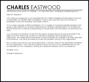 letter of recommendation templates word field investigator