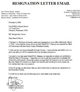 letter of resignation email resignation letter emails