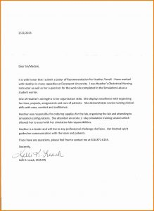 Letter Of Resignation Nursing Template Business