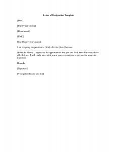 letter of resignation template letter of resignation 515