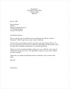 letter of resignation templates week resignation letter samples