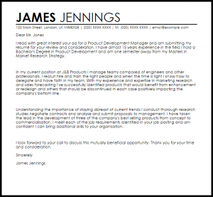 letter of resignation templates product development manager