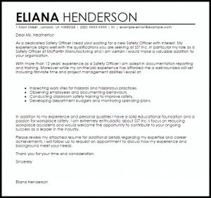 letter of resignation templates safety officer