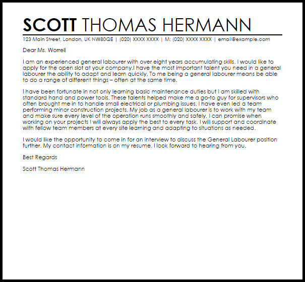 letter of support samples
