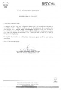 letter of support samples language proficiency expert dgac peru june