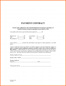 letter of support samples payment agreement template payment agreement contract template