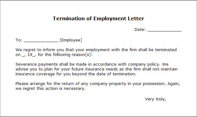 letter of termination