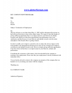 letter of termination of employment letter of termination of employment