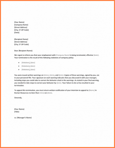 letter of termination of employment letter of termination of employment letter of termination due to policy violation