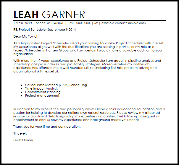 scheduling coordinator cover letter - letter of termination sample template business