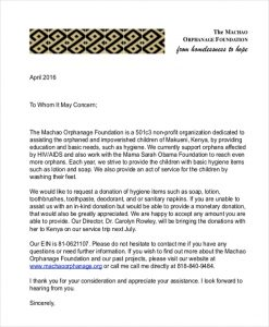 letter requesting donations machao donation request letter