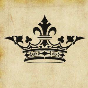letter stencils to print antique crown vintage shabby chic stencil design size hxw xl xcm p