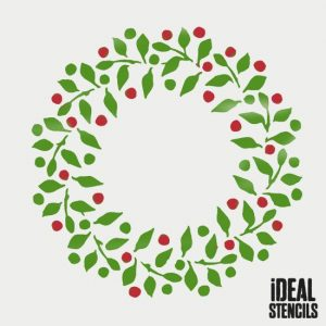 letter stencils to print christmas wreath stencil [] p
