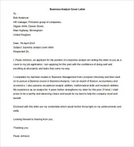 letter template word business analyst cover letter template word doc