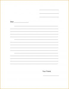 letter templates free friendly letter template for kids invoice template download gallery