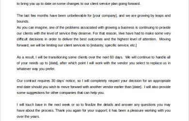 letter templates free download termination of service letter