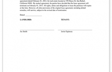 letter to break lease sample agreement to cancel lease form template