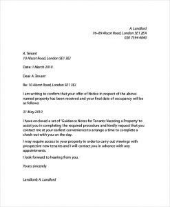 letter to land lord basic landlord reference letter