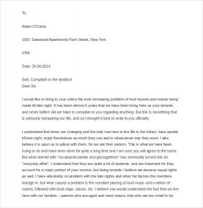 letter to land lord free sample complaint letter to landlord