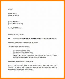 letter to land lord letter of notice to landlord two weeks tenant notice letter example